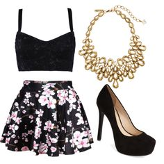 Night out by emmanuelak on Polyvore featuring polyvore fashion style Dolce&Gabbana Jessica Simpson Oscar de la Renta
