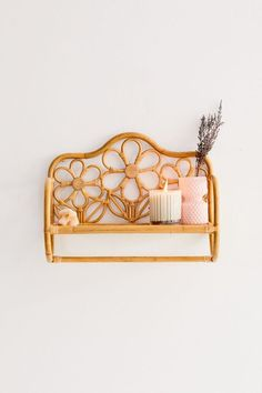 Shop Rattan Daisy Wall Shelf at Urban Outfitters today. We carry all the latest styles, colors and brands for you to choose from right here. Hanging Towels, Big Girl Rooms, Deco Design, New Room, Wall Shelves, Room Inspiration, Decoration, Boho Decor, Diy Home Decor