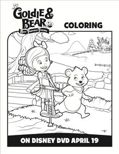 Free Goldie and Bear Coloring Pages From Disney Junior - Mommy Mafia