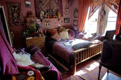 Bed Bedroom Colors Hippie Room Image 319800 On Favim - Bedroom Design Ideas