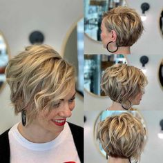 50 Cute Short Haircuts for Women 2019 - Short haircuts are one of the most beautiful styles ever. It refines facial features, makes the haircut look cool. The mo. - 50 Cute Short Haircuts for Women 2019 - Short haircuts are Medium Short Haircuts, Bob Haircuts For Women, Cute Short Haircuts, Short Hair Cuts For Women, Short Hairstyles For Women, Short Textured Haircuts, Everyday Hairstyles, Trending Hairstyles, Curly Bob Hairstyles
