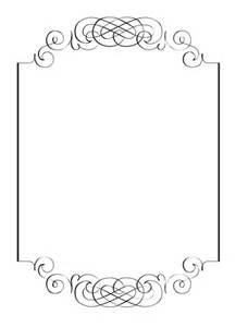 Free Vintage Clip Art Images Calligraphic Frames And Borders Diy Wedding Invitation