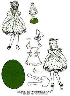 Alice in Wonderland - printable paper dolls