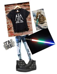 Star Wars by ash102714 on Polyvore featuring polyvore, fashion, style and Vans