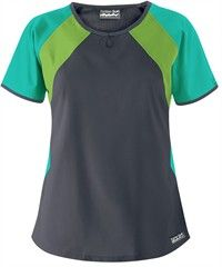 Butter-Soft Scrubs by UA™ Color Block Top $15.99 Pewter w/Mojito and Spearmint Splash