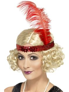 You can buy a Smiffy's Charleston Wig for costume parties from the Halloween Spot. Complete your costume with this blonde curly wig with Sequin Headband. Blonde Curly Wig, Short Blonde, Curly Wigs, Fancy Dress Accessories, Costume Accessories, Hair Accessories, 1920s Wig, 1920s Flapper, Fancy Dress Wigs
