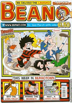 Dennis the Menace first appeared in the comic The Beano on this day, 29th July, 1938