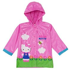 Sanrio Hello Kitty Girl's Pink Rain Coat - Size 2T