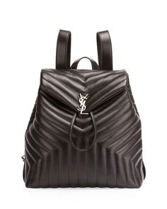 42926773d9c60 Loulou Monogram Large Y-Quilted Backpack Black