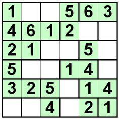 Number Logic Puzzles: 24864 - Bricks size 6