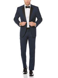 Perry Ellis Slim Fit Blue Tuxedo Jacket #tuxedo #ad #mensfashion #menswear #style