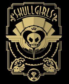 Sanshee.com | Store | Skullgirls Deco Shirt Punk Genres, Shirt Pins, Skullgirls, Some Games, Strong Girls, Fighting Games, Dieselpunk, Animal Crossing, Art Girl