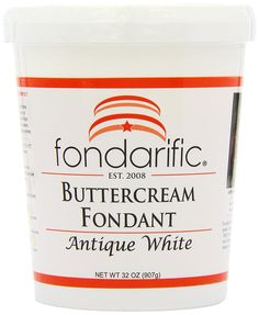 Fondarific Buttercream Antique White Fondant, 2-Pounds >>> Be sure to check out this awesome product.
