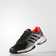 the latest 69c5b 36863 adidas Barricade Court Shoes - Black   adidas UK Black Adidas, Adidas Men,  Adidas