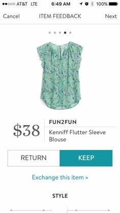 Fun2Fun flutter sleeves blouse. Stitch Fix Spring & Summer 2017. Mint top, soft green. Such a pretty color for Spring or Easter. #stitchfix #sponsored
