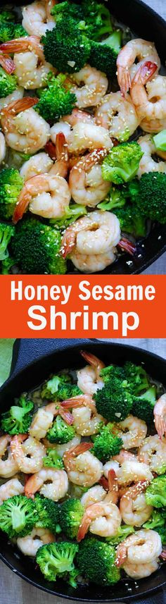 You Have Meals Poisoning More Normally Than You're Thinking That Honey Sesame Shrimp Easy And Healthy Shrimp Stir-Fry With Broccoli In Honey Sesame Sauce. Takes Only 15 Minutes To Make Asian Cooking, Healthy Cooking, Healthy Eating, Cooking Recipes, Fish Recipes, Seafood Recipes, Asian Recipes, Honey Recipes, Salads