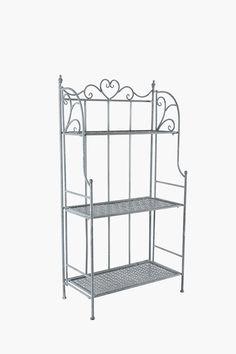 Metal Heart Scroll Shelf - Shop New In - Furniture - Shop Box Shelves, Corner Shelves, Shelf, Outdoor Tables, Patio Table, Metal Furniture, Outdoor Entertaining, Potted Plants, Garden Tools