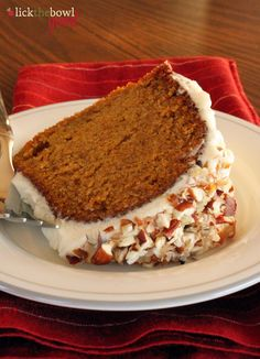 "Cinderella Cake: moist pumpkin bundt with ""Coachman's Icing"" (cream cheese-based) via Lick The Bowl Good"