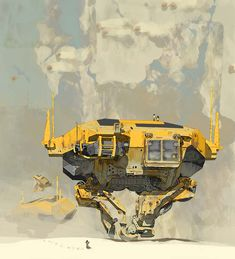 I'm not quite sure that it's syd mead indeed. But I'll just leave it here Concept Ships, Concept Art, Cyberpunk, Science Fiction Kunst, Syd Mead, Art Et Illustration, Environment Design, Techno, Sci Fi Art