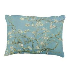 Cotton cushion cover printed with a detail from the painting Almond Blossom by Vincent van Gogh. Van Gogh Almond Blossom, Floral Shower Curtains, Van Gogh Museum, Van Gogh Paintings, To Color, Vincent Van Gogh, Decorative Throw Pillows, Blossoms, Bloomsbury