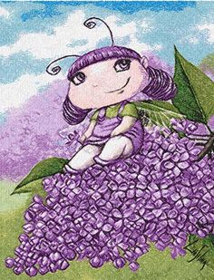 Violet fairy photo stitch free embroidery design - Photo stitch embroidery designs - Machine embroidery community