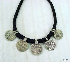 vintage-antique-old-silver-necklace-mughal-coin-pendant-tribal-jewellery