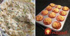 Vedeli ste, že muffiny sa dajú urobiť aj zo zemiakov? Aj keď to možno znie zvláštne, chutia vynikajúco!  Potrebujeme: 100g slaniny, nakrájanej na kocky 550g zemiakov 225g hladkej múky 3 lyžičky kypriaceho prášku 120g tvrdého syra + trochu na posypanie 2 vajcia 80ml olivového oleja 100ml mlieka 2 strúčiky cesnaku soľ, korenie zelené bylinky... Russian Recipes, How To Stay Healthy, Mashed Potatoes, Bakery, Muffin, Food And Drink, Appetizers, Homemade, Snacks