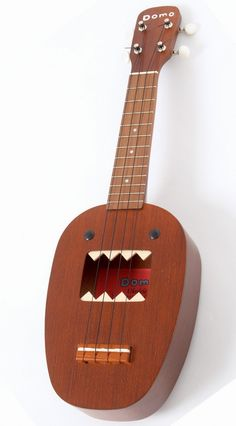Domo Ukulele (by Mitsuba Gakki) I do love a Japanese promotional Ukulele  even when I have no idea what its promoting? --- https://www.pinterest.com/lardyfatboy/