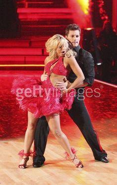 Chelsie Hightower and Tristan MacManus dancing samba - Macy's Stars of Dance 2012