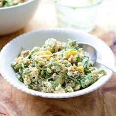 Spring #Recipe: Grain Salad with Mango, Sprouts & Creamy Avocado Dressing