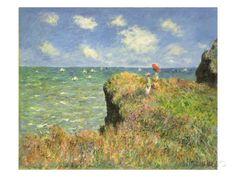 Cliff Walk at Pourville, 1882 Giclée-Druck von Claude Monet bei AllPosters.de