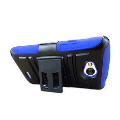 FOR LG LANCET/VW820 BLACK/BLUE HYBRID HARD PLASTIC CLIP HOLSTER PHONE CASE STAND