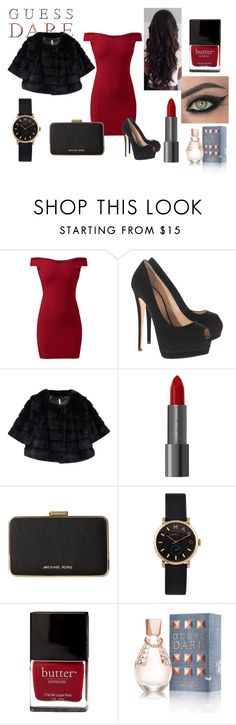 Do You Dare with GUESS Dare: Contest Entry by didi-sandu on Polyvore featuring Giuseppe Zanotti, MICHAEL Michael Kors, Marc by Marc Jacobs, GUESS, Butter London, Eye Rock, women's clothing, women's fashion, women and female