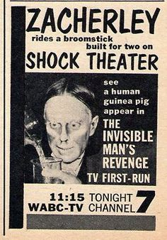 The Invisible Man's Revenge on Shock Theater!