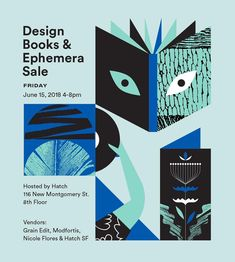 Save the date. If you're in town for SF Design week, swing by to check some vintage design books and ephemera out. @grainedit…