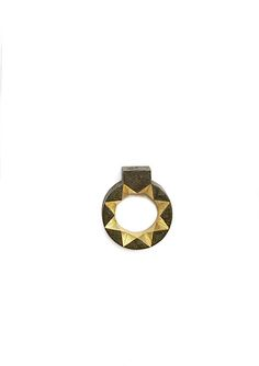 """... and the ring : Beate Klockmann - """"Star with upside down House"""" : Gold, silver, niello. 2006"""