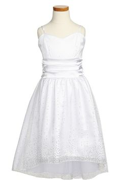 Un Deux Trois 'Sequin Spray' High/Low Dress (Big Girls) available at #Nordstrom