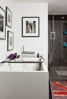 The bath in a Chelsea loft designed by Modern Declaration. Featured in the August 2011 issue of D Pages.