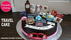 travel themed birthday party bridal shower cake design ideas decorating ...