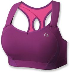 Supportive comfort during trail—Moving Comfort Juno Sports Bra.