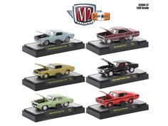 """Detroit Muscle 6 Cars Set Release 37 IN DISPLAY CASES 1/64 Diecast Model Cars by M2 Machines - Brand new 1:64 scale diecast models of Detroit Muscle 6 Cars Set Release 37IN DISPLAY CASES by M2 Machines. This is a unique release and has a few """"first"""" for M2. All the cars in this release have 6 cylinder engines. I call this release""""A 6 Pack of 6's or a """"6x6"""". We've released a few 6 cylinder engines here and there over the years in D-M, But we've neverdedicated an entire release to the 6…"""