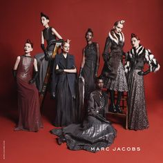 The Cabine • Marc Jacobs Fall '15 campaign photographed by David Sims. Featuring Vartya Shutova, Issa Lish, Hanne Gaby, Riley Montana, Aamito Lagum, Sally Jonsson, and Grace Simmons.