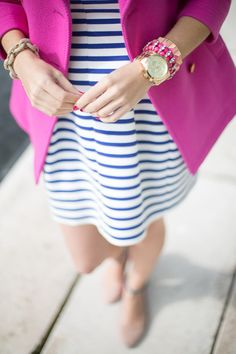 Stripes with pink… Fun Spring style