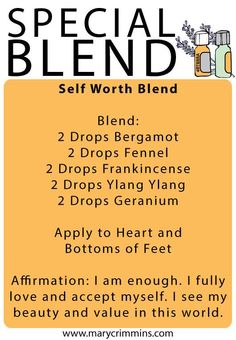 The Self Worth Blend using CPTG Essential Oils www.mydoterra.com/itisyourlife