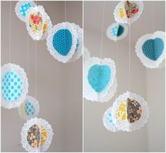 nice way to spruce up the dollie garland or make this DIY Outdoor & Hanging Decor Ideas