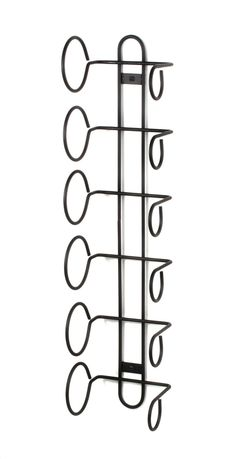 Amazon.com - Spectrum 48810 Wall Mount Wine Rack, 6-Bottle, Black - Spectrum Metal Wall Wine Rack