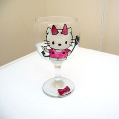 Kitty Halloween Wine Glass £2.00