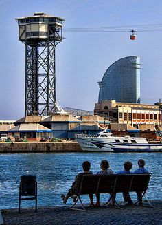 Port and hotel W Barcelona (Catalunya - Catalonia) Barcelona Catalonia, Barcelona Travel, Gaudi, Hotel W, Barcelona Architecture, Roman City, Europe, Most Beautiful Cities, Colors