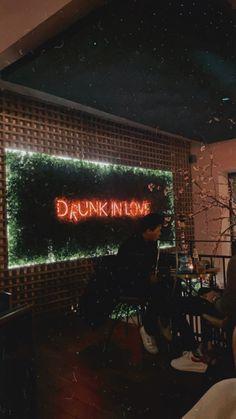 #artwallpaper #drunkinlove #inspiration Drunk In Love, Neon Signs, Coffee, Inspiration, Food, Biblical Inspiration, Meal, Essen, Hoods