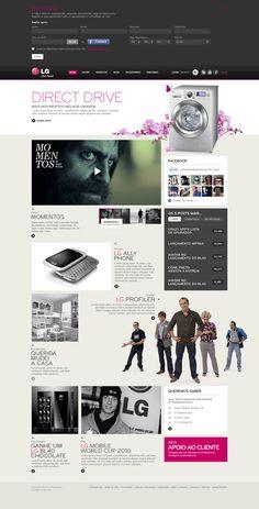 Web design LG Portugal (2011) on Behance